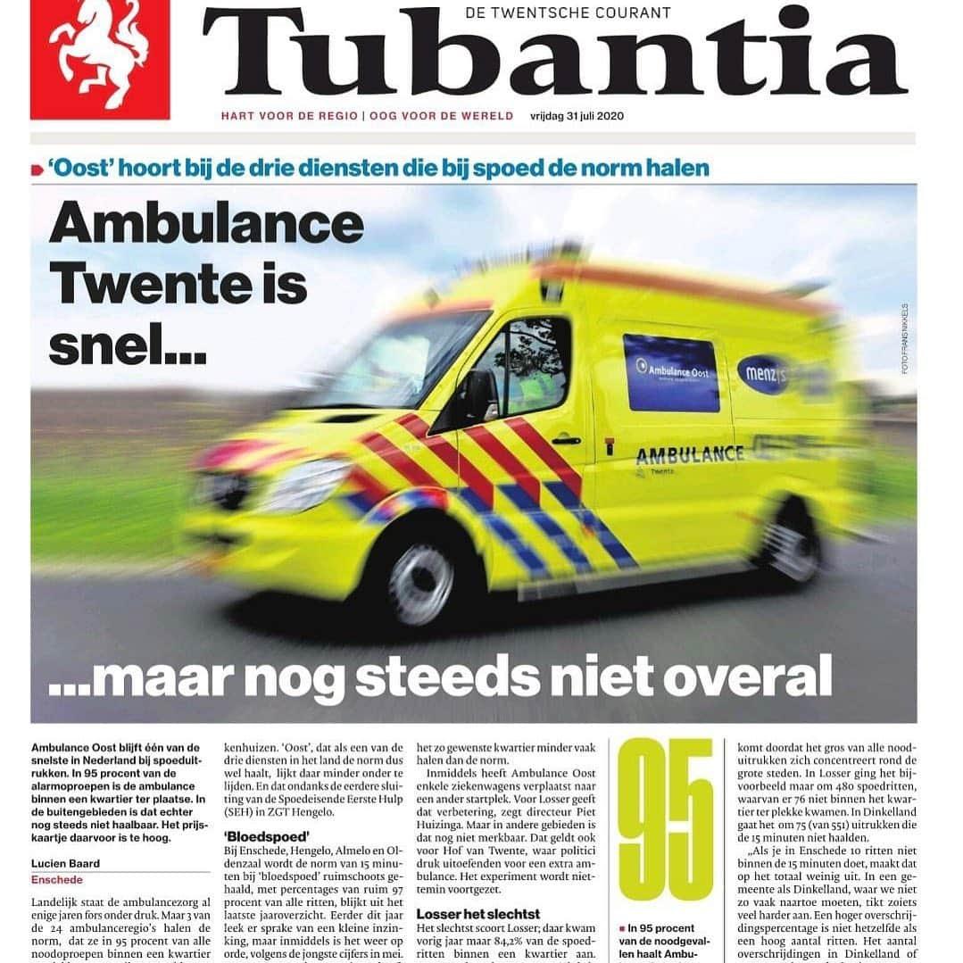 Artikel tubantia aanrijdtijden 2020